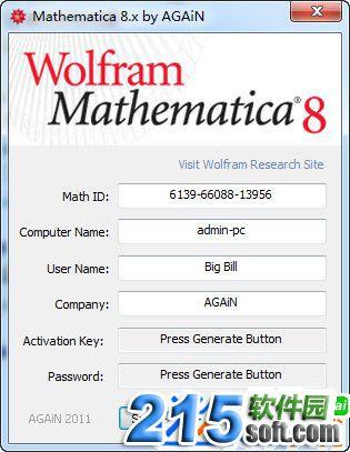 mathematica8.0注册机